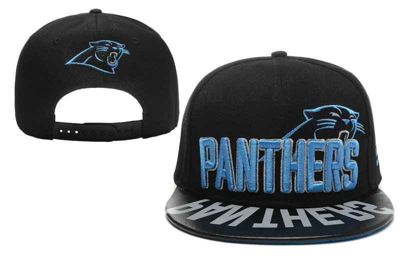 Carolina Panthers Black Snapback Hat XDF 0512
